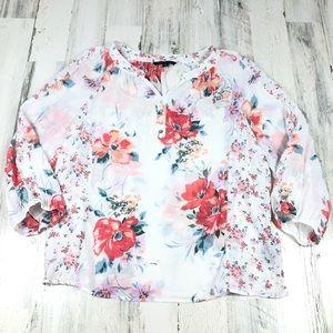 Zac & Rachel floral blouse size xl